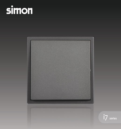 Simon i7 Series 16A 1 Gang 1 Way - Graphite Black