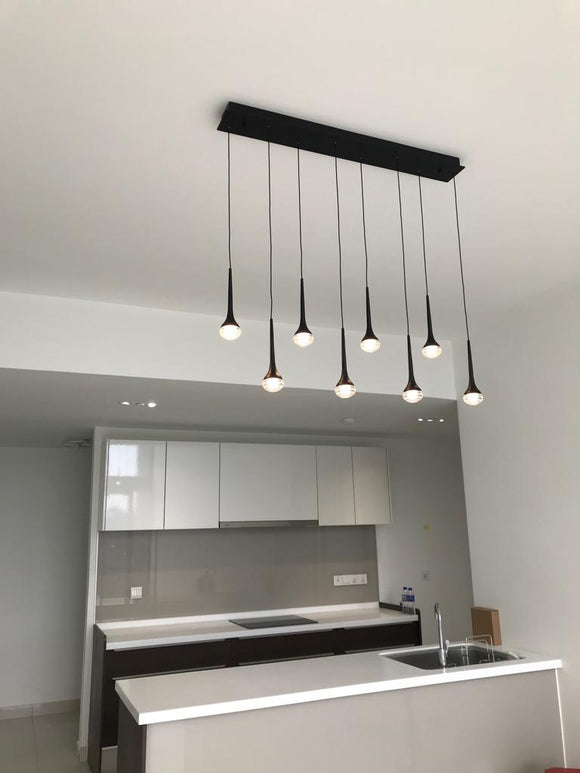 Classy 8 Heads Glass LED Pendant | Simple and Elegant