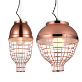 Trendy Rose Gold Pendant Lamp | Chrome Design