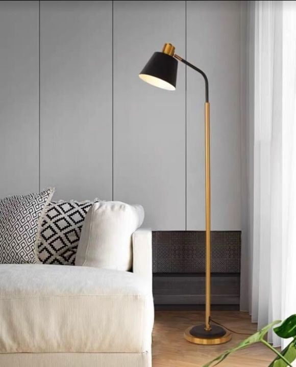 Nova Gold and Black Floor Lamp | Urban Series