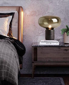 Umage Black Concrete and Glass Table Lamp | Urban Series
