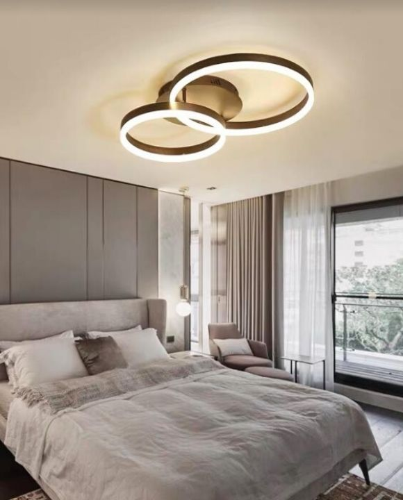 Lindby 2 Rings LED Ceiling Mounted Light | Modern Series