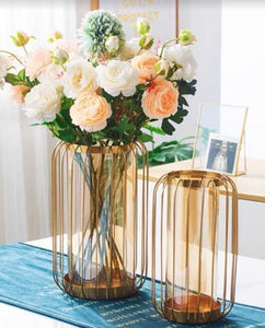 Bronze Wire Flower Vase | Hotel Series