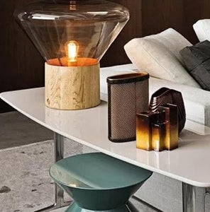 Wooden Bulb-shaped Table Lamp | Designer Series