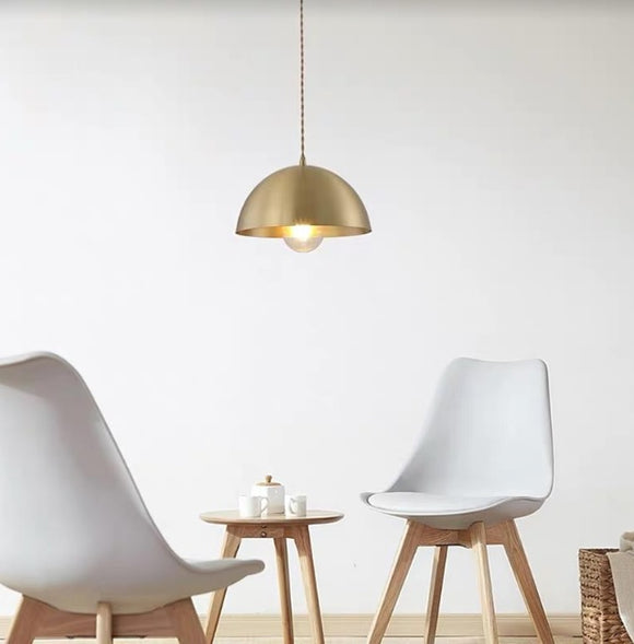 Vintage Dome Pendant Light | Brass Series
