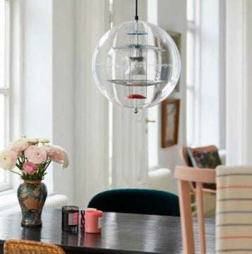 Clear Sphere Glass Pendant Light | Designer Series