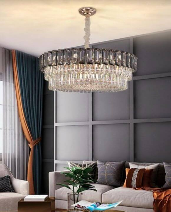Cosmic Champagne Gold Chandelier | Crystal Series (D800mm)