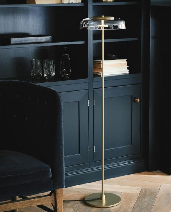 Lindo LED Glass Floor Lamp in Black | Minimalist Series