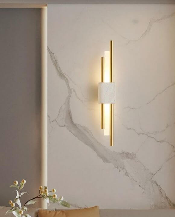 Dixon Marble Finish Copper Wall Lamp | Designer Series