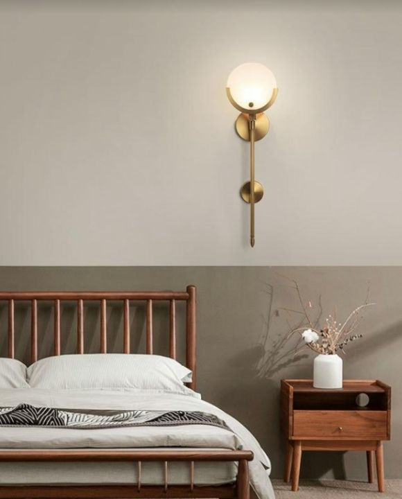 Taplin Cultured Marble Gold Wall Lamp | New Arrival