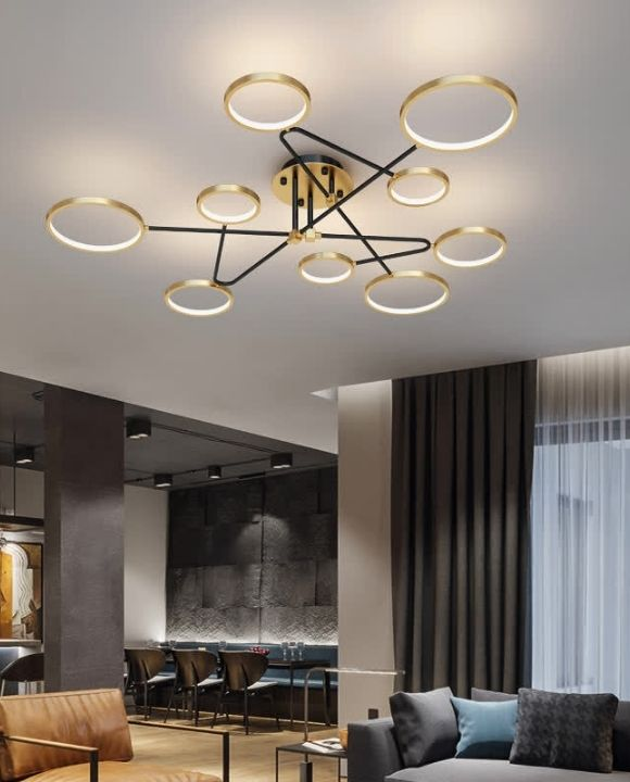 Helda 9 Gold and Black Ceiling Mounted | Trendy Series