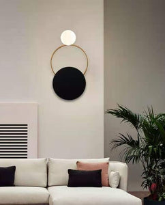 Gord Gold and Black Wall Lamp | Designer Series