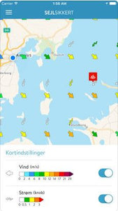 Danish weather Sail Safe App