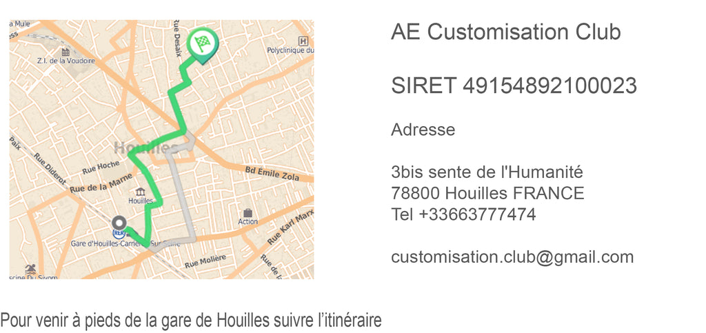 Adresse Customisation Club