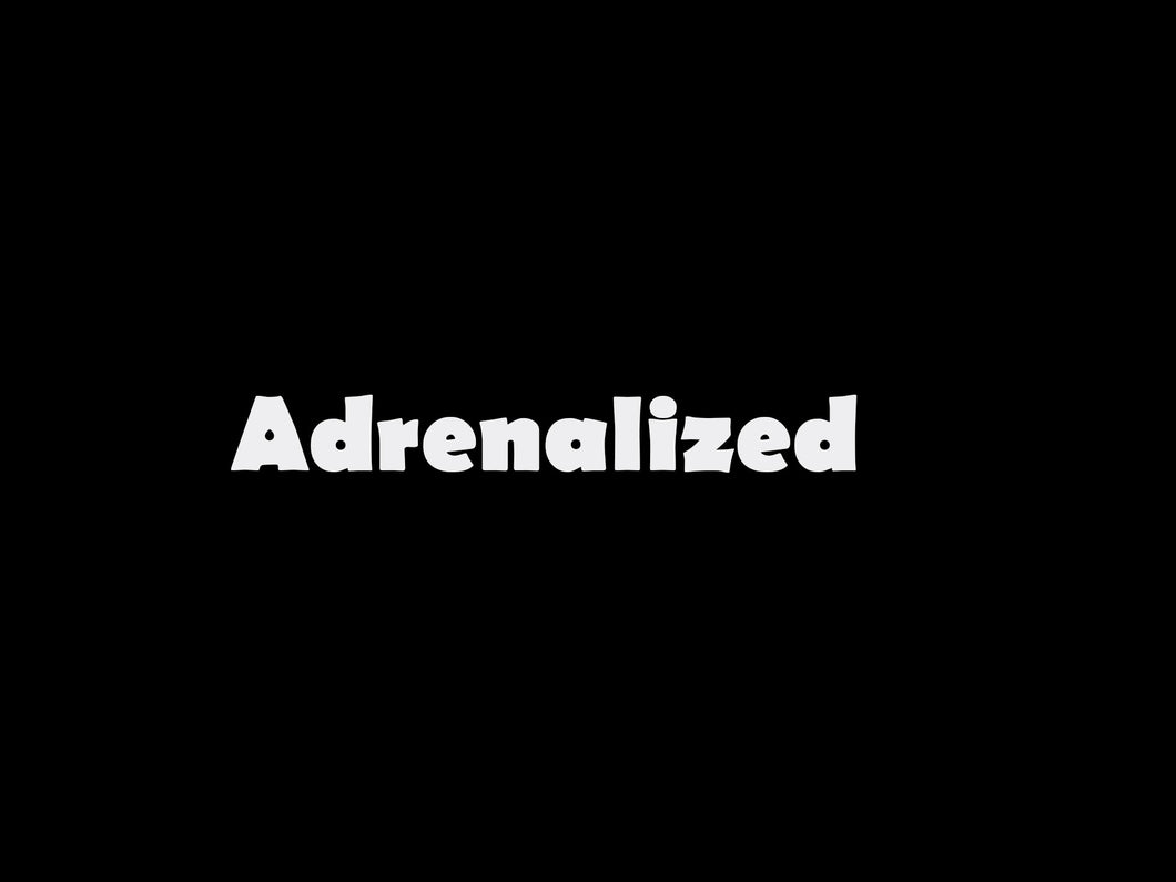 Adrenalized logo sticker pour textile