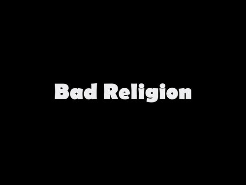 Bad Religion logo sticker pour flocage