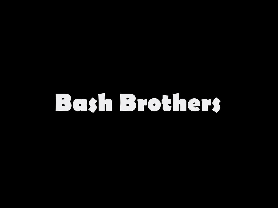 Bash Brothers logo sticker pour flocage