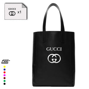 GUCCI logo flex thermocollant - Customisation Club