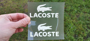 Lacoste sticker thermocollant pour flocage