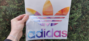 Adidas grand logo coloré thermocollant pour flocage