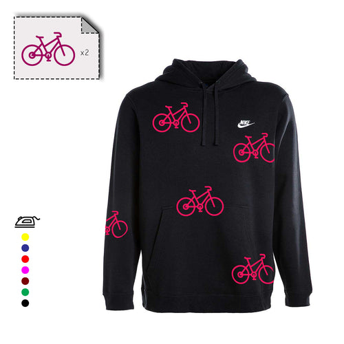 2x motifs VELO en flex thermocollant - Customisation Club
