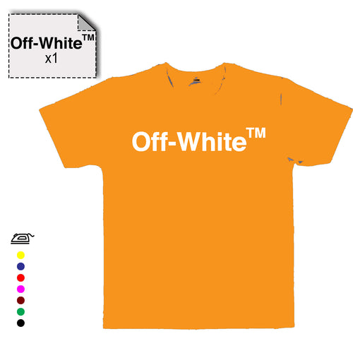 Transfert text OFF-WHITE - Customisation Club