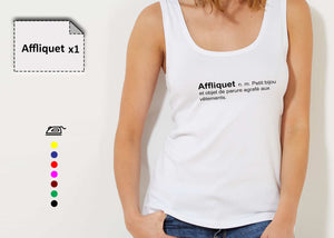 T-shirt femme texte - Customisation Club