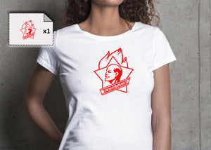 T-shirt femme LENINE RUSSE CCCP - Customisation Club