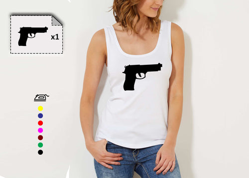 T-shirt femme PISTOLET - Customisation Club