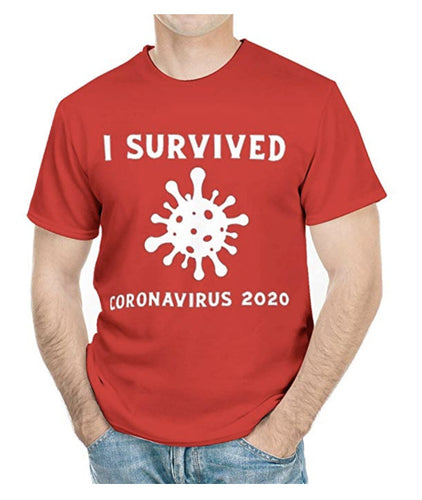 T-shirt I survived coronavirus
