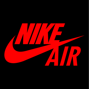 Nike Air logo sticker flex thermocollant