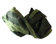 The Mar Saba Kufiya, made in Palestine, black on olive
