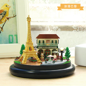 DIY Miniature Parisian Garden Music Box