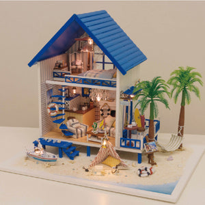 Miniature DIY Greek Aegean Dollhouse