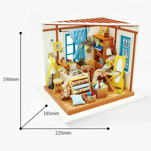 DIY Miniature Sewing Room Dollhouse