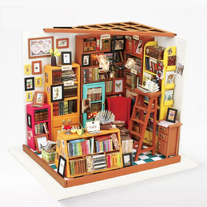 DIY Miniature Mini Library Dollhouse