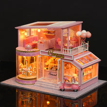 Miniature DIY Pink Carousel House