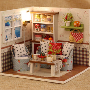 DIY Miniature Warm Living Room Set