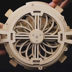 Wooden DIY Mechanical Gear Perpetual Calendar