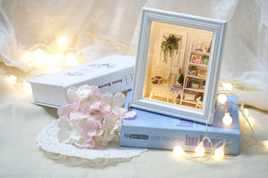 Miniature DIY Rose Room Framed Set