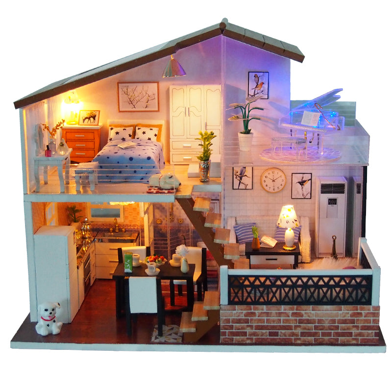 Miniature DIY Happy Cabin House Set
