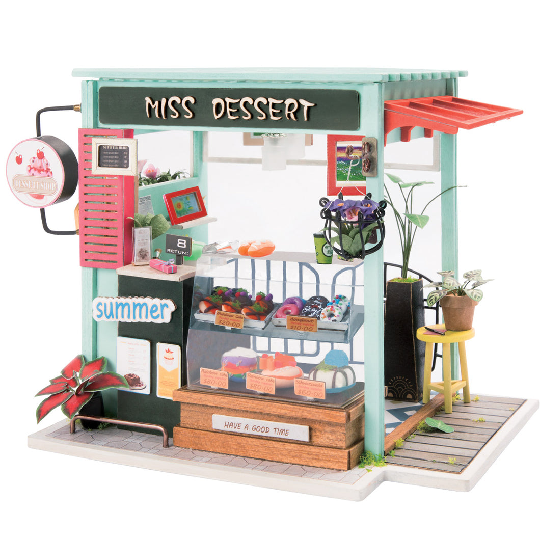 DIY Miniature Ice Cream Station Dollhouse