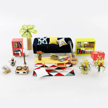 DIY Miniature Hip Livingroom Dollhouse