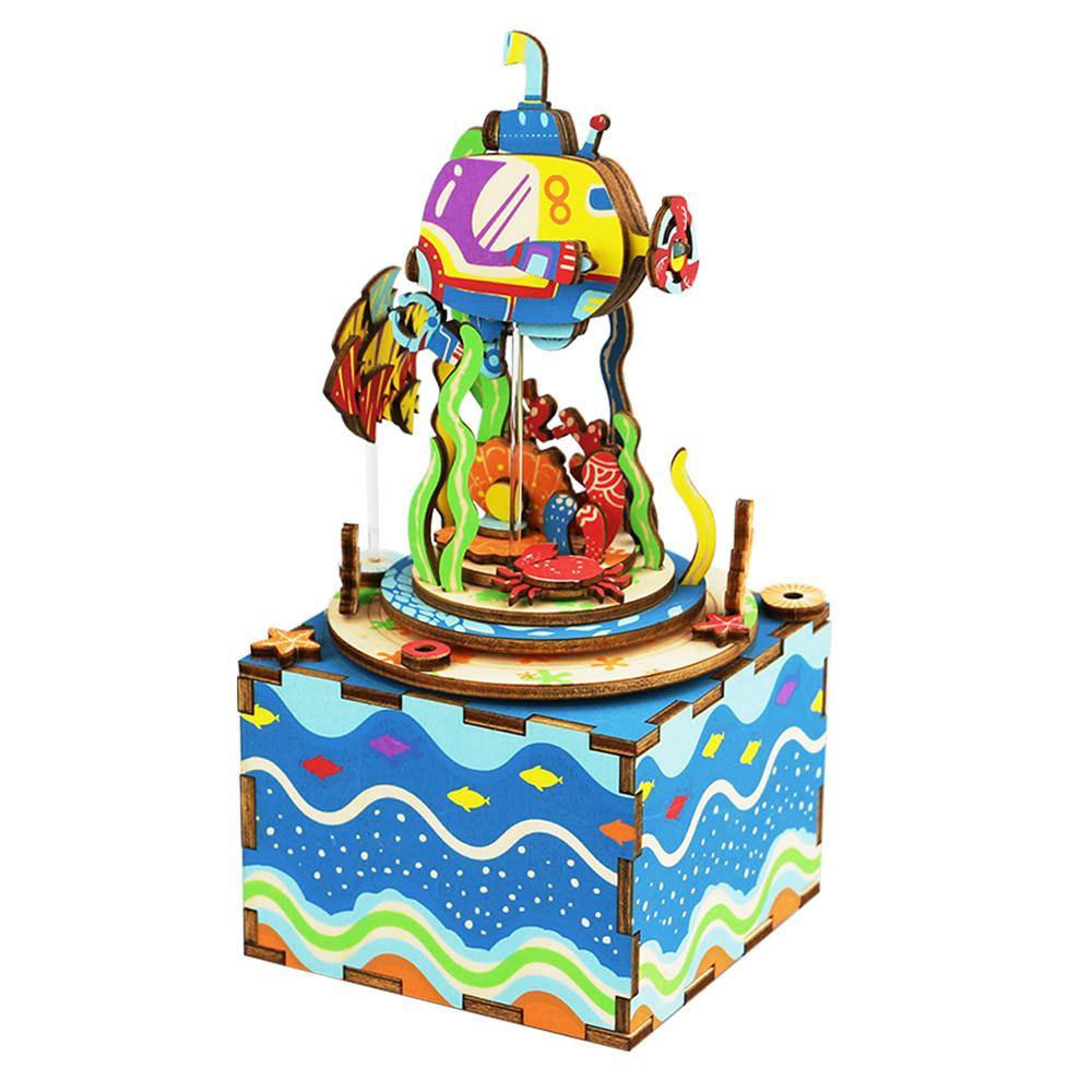 Wooden DIY Music Box Under The Sea