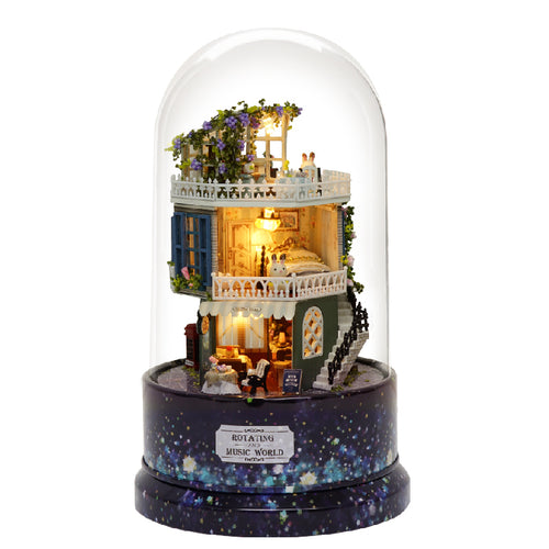 Miniature DIY Star Dream Rotating Music Dome