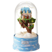 Miniature DIY Sky Dream House Rotating Music Dome