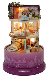 Miniature DIY Lovely Bedroom Rotating Dome