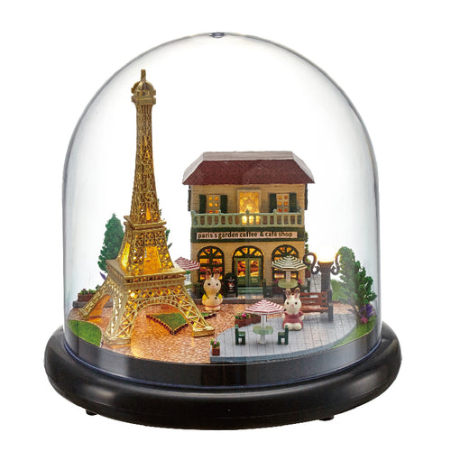 Miniature DIY Parisian Garden Music Box
