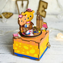 Wooden DIY Music Box Love Story