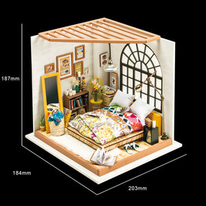 DIY Miniature Dreamy Bedroom Dollhouse